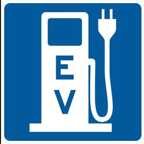 EV electric car logo